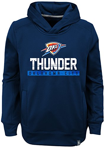 Oklahoma Pullover (OuterStuff NBA Kids & Youth Boys Playmaker Pullover Hoodie Oklahoma City Thunder-Dark Navy-L(14-16))