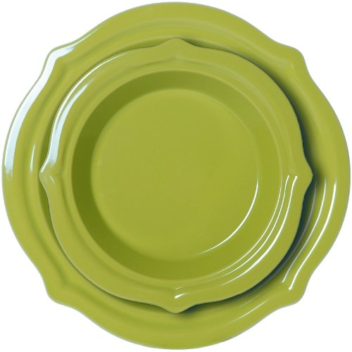 Chantal 2 Piece Talavera Pie Set, Lime Green
