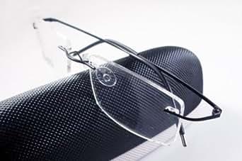 Black 8 Colors Titanium Rimless Flexible Hinged Eyeglass Frame Eyewear Spectacles RX