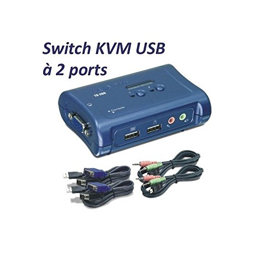 Commutateur KVM TRENDNET TK209K BLEU 2PORTS