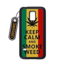 CASEYIMEI Country American Flag Marijuana Cannabis Weed Hemp Leaf Smoker Custom made Design Black Plastic Cell Phone Cases Cover for Samsung Galaxy S4 mini case