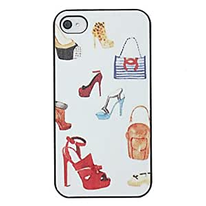 Mini - High-heeled Shoes Pattern Back Case for iPhone 4/4S