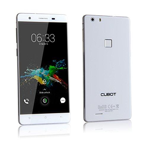 Cubot S550Pro 4G FDD-LTE Smartphone Ohne Vertrag Handy, 5.5 Zoll HD Touch Display mit 0.3s Fingerabdruck Sensor, 3GB RAM+16GB ROM, Android 5.1, 13MP/8MP Dualkameras, Quad-Core Prozessor 1.3GHz, Dual SIM Karten Daul Standby für T-mobile, Vodafone, o2-de, E-Plus usw (Schneeweiß)