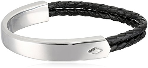 Casual Strand Bracelet (Fossil Vintage Casual Multi-Strand Bangle Bracelet, Silver tone)