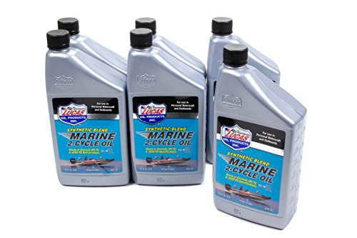 Lucas 10860-6 Synthetic Blend 2 Cycle Marine Oil, 6 quart...