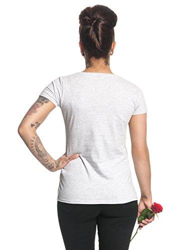 Alice Im Wunderland I'm Not Crazy Damen T-Shirt Grau Melange, Größe:XS
