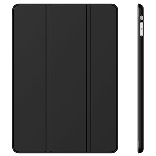 JETech Case for Apple iPad Mini 1 2 3 (NOT for iPad Mini 4), Smart Cover with Auto Sleep/Wake, Black (Best Leather Ipad 3 Case)
