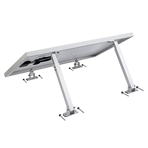 Mount Systems Roof (Adjustable Solar Panel Tilt Mount Brackets support up to 150 Watt Solar Panel for Roof, RV, Boat and Any Flat Surface, for on-grid/off-grid systems (Mount Only) (Tilt Mounts))