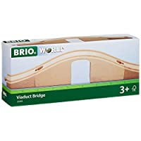 BRIO World - 33351 Viaduct Bridge   3 Piece Wooden Toy Train Accessory for Kids Ages 3 and Up