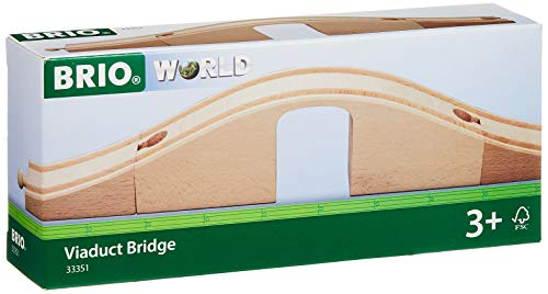 BRIO World – 33351 Viaduct Bridge | 3 Piece Wooden Toy Train Accessory for Kids Ages 3 and Up