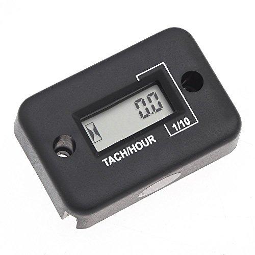 SODIAL(R)Digital Hour Meter Gauge LCD for Gasoline Engine Racing Motorcycle ATV Mower Snowmobile 0.1/99999Hrs (Black)