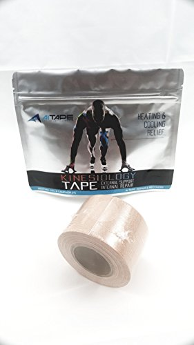 Active Intelligence AI Kinesiology Tape (w/Pain Relief Formula) Repair & Recovery - 2 in x 16 ft - (One Roll) (Beige) by Active Intelligence