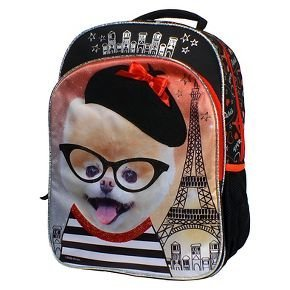 Boo the Worlds Cutest Dog Backpack with Beret and Eiffel Tower