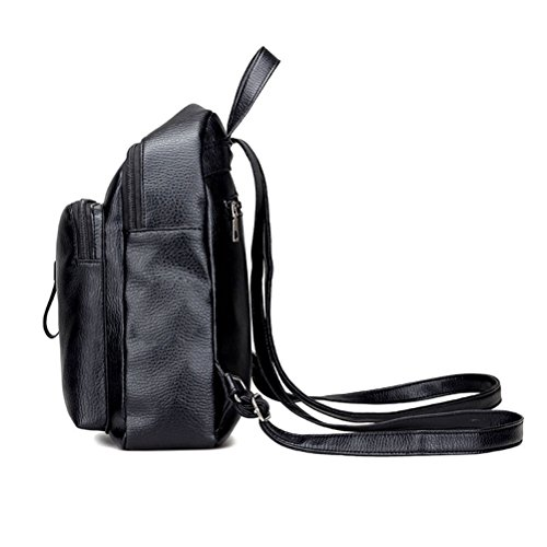 Zhhlaixing Borse di moda Fashion Outdoor PU Backpack Simple Style Student Shoulder Bag Travel Bags for Women