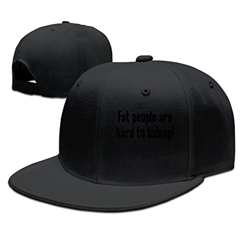 WYF Men&women Fat People Are Hard To Kidnap Funny Football Black Caps Hats Adjustable Snapback -