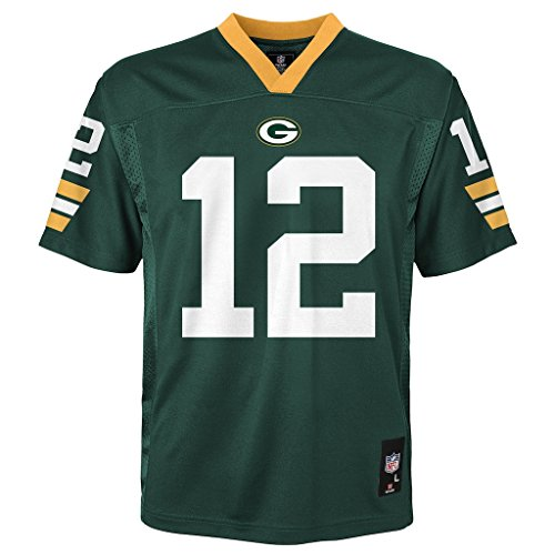 Aaron Rodgers Green Bay Packers Green NFL Youth 2013 Season Mid-tier Jersey (Large - Rodgers Jersey