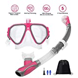 Ufanore Snorkel Set Dry Top Snorkeling Gear for Adults Snorkeling Package Set