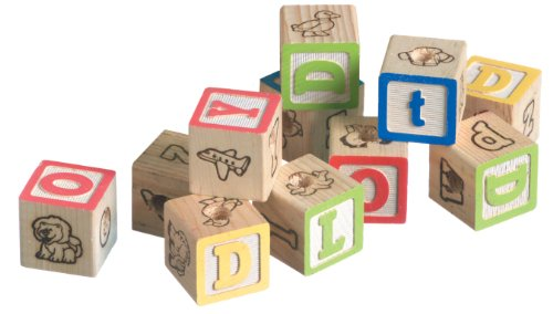 Super Bird Creations 1-1/4-Inch Alphabet Blocks, 12-Pack by Super Bird Creations