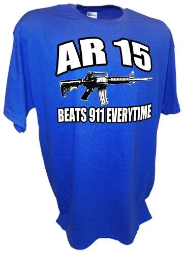 Mens Ar15 Beats 911 Assault Rifle M16 223 Cal Pro Gun Tee By Achtung T Shirt LLC ()