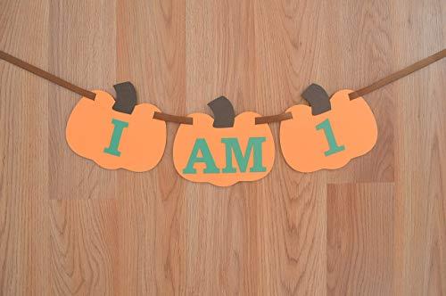 Pumpkin I am 1 Fall High Chair Birthday Banner