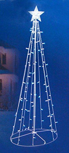 Sienna Blue and White LED Lighted Outdoor Twinkling Chris...