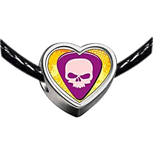 Chicforest Silver Plated Music Theme Guitar Plectrum Photo Heart Charm Beads Bracelets Fits Pandora Charm