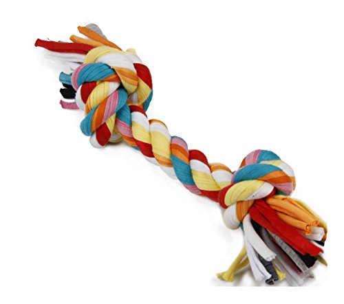 Lovely Baby Best Durable Pet Dogs Training Rope Toy with two, three, or four knots, best choice for your small medium and large dogs LY-CHEWROPE001-M