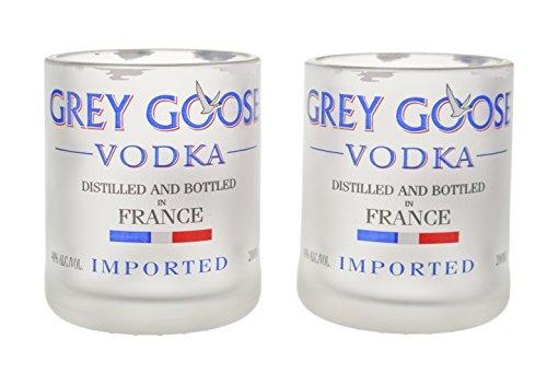 Recycled Bottle Upcycled Grey Goose Shotglass Set of Two(2)