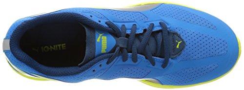 Puma Ignite Jr - zapatilla deportiva de material sintético Niños^Niñas azul - Blau (cloisonné-aged silver-sulphur spring 01)