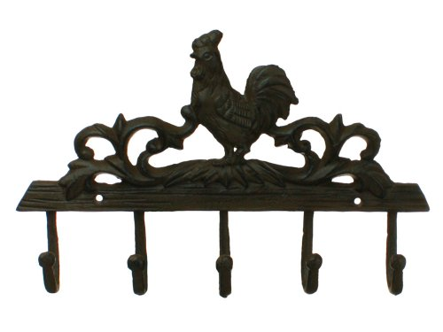 Rooster Wall Plaque - Rooster Coat Hook Wall Decor Rack Iron Plaque Decor New