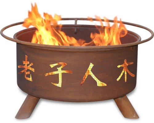 Patina Products F103, 30 Inch Chinese Symbols Fire Pit