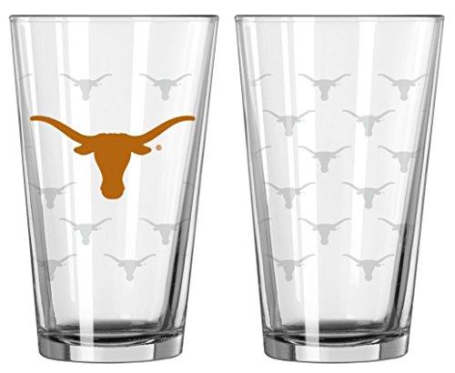 (Boelter Brands Texas Longhorns Satin Etch Pint Glass Set)