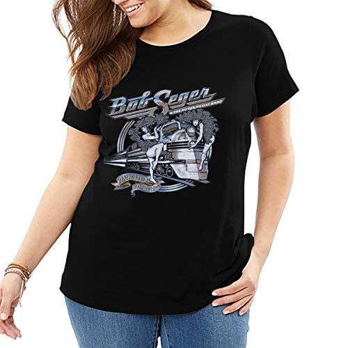 Bob Seger The Silver Bullet Band Shirt King Size Women's Big & Tall Shrink-Less Lightweight Short Sleeve Tee Shirt XXL ()