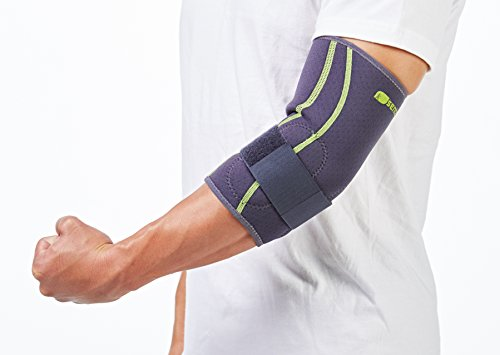 SENTEQ Tennis Golf Elbow Brace Sleeve - Medical Grade & FDA Approved. TPR GEL for Support & Comfort, Decrease Swelling, Inflammation Reduces Pain. Fits Either the Left or Right Forearm (SQ2 N007 S) by SENTEQ (Image #4)