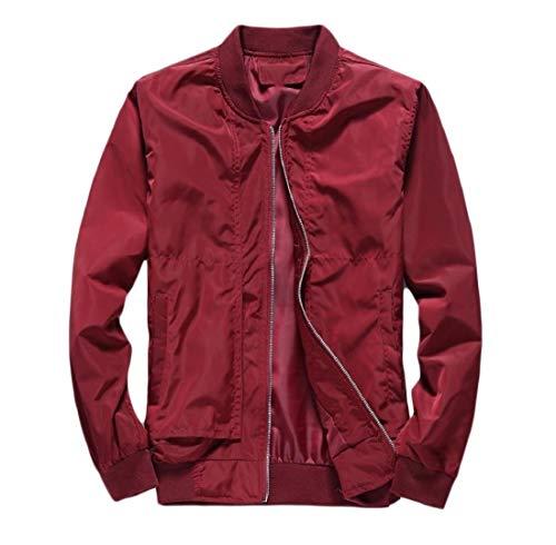 Red Againg Jacket Leisure Mens Coat Comfort Thin Stylish Baseball Outwear Ow7zTaOqr