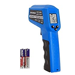 Infrared Thermometer Temperature Gun 58℉ 716℉ 50℃ 380℃ Non Contact Instant Read Digital Laser Infrared Ir Thermometer With Backlight Blue
