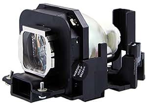 Maxii ET-LAX100compatible lámpara bombilla con carcasa compatible para proyector Panasonic PT-AX100/PT-AX100E PT-AX200/PT-AX200E/PT-AX200U proyectores