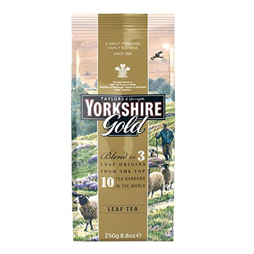 Taylors of Harrogate Yorkshire Te negro Gold, Leaf tea 250g - 1 unidad