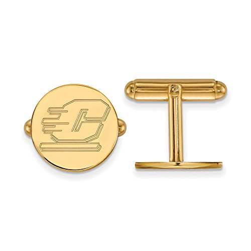 Central Michigan Cuff Links (14k Yellow Gold) by LogoArt