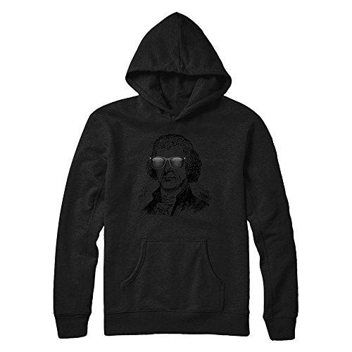 Teely Shop Women's Woman's Cool Thomas Jefferson Costume Gildan - Pullover Hoodie/Black/L ()