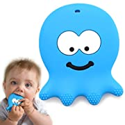 Baby Teething Toys - Sensory Learning Octopus Teether - Made from BPA Free Silicone - Best for 0 3 6 Months, 1 Year Old, Infant, Newborn and Toddler Girl Or Boy - Cool Baby Shower Gifts