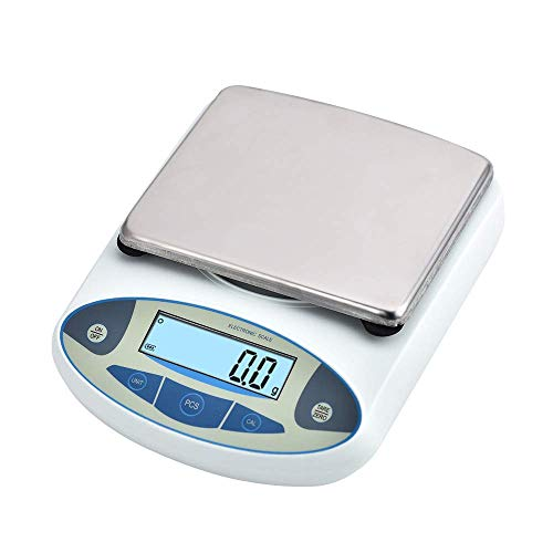 Mein LAY Digital Precision Analytical Electronic Balance Lab Scale Precision Jewelry Scales Kitchen Precision Weighing Electronic Scale 0.1g (10kg, 0.1g)