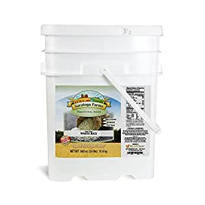 Saratoga Farms Long Grain White Rice ValueBUCKET, 5.3-Gallon Stackable Bucket, 35lbs (15.87kg), 324 Total Servings, Dehydrated, Food Storage, Cooking, Every Day Use