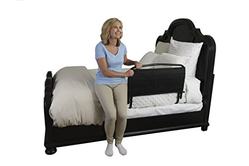 Stander 30'' Safety Adult Bed Rail & Padded Pouch- Home Elderly Bedside Safety Rail + Swing Down Assist Handle by Stander (Image #1)