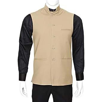 Libas Riyaz Gangji Beige Linen Vest For Men