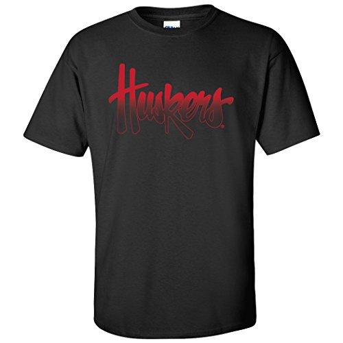 Nebraska Huskers Black Shirts - Nebraska Cornhuskers Legacy Script Huskers Tee Shirt - Black - 3X