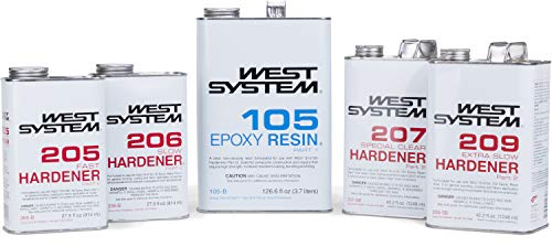 West System 105-B Epoxy Resin (.98 gal) with 205-B Fast Epoxy Hardener (.86 qt) and Mini Epoxy Metering Pump Set by WEST SYSTEM (Image #7)