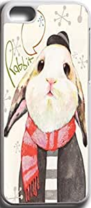 iPhone 5C Case Snap on iPhone 5C Back Cover Skin Slim Fit Protective The small white rabbit 2