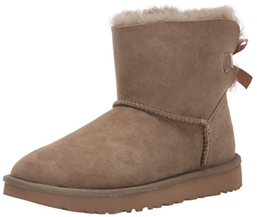 UGG Women's W Mini Bailey Bow II Fashion Boot, Antilope,, used for sale  Delivered anywhere in USA
