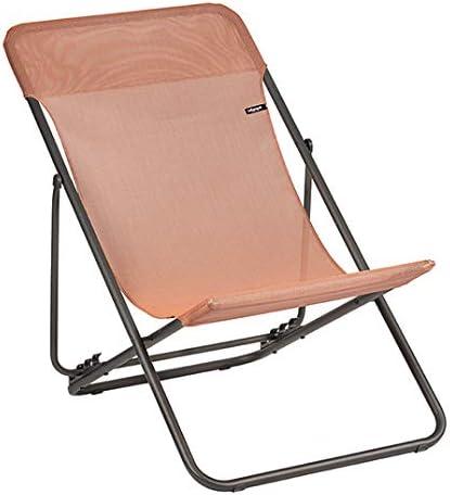 Lafuma Mobilier Maxi Transat Chaise longue Batyline Terracotta 2019 Chaise de camping